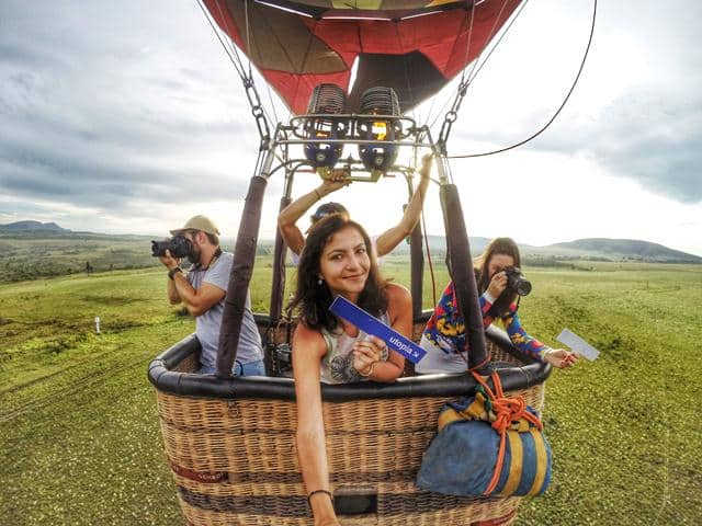 Balloon ride in Chapada dos Veadeiros