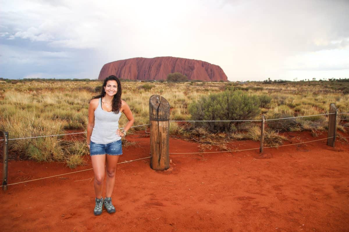 Elaine Villatoro in Uluru - Ayers Rock - Australia