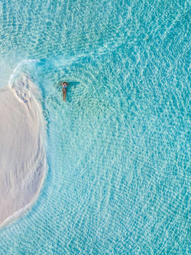 Sandbank próximo a Ilha Maafushi nas Maldivas