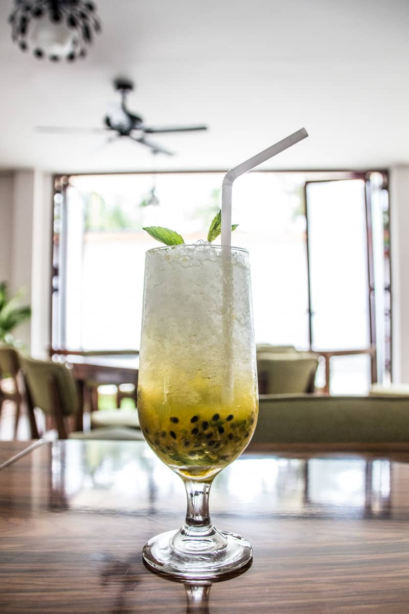 Passion Fruit Mojito at White Sand Dhigurah Guest House in Maldives