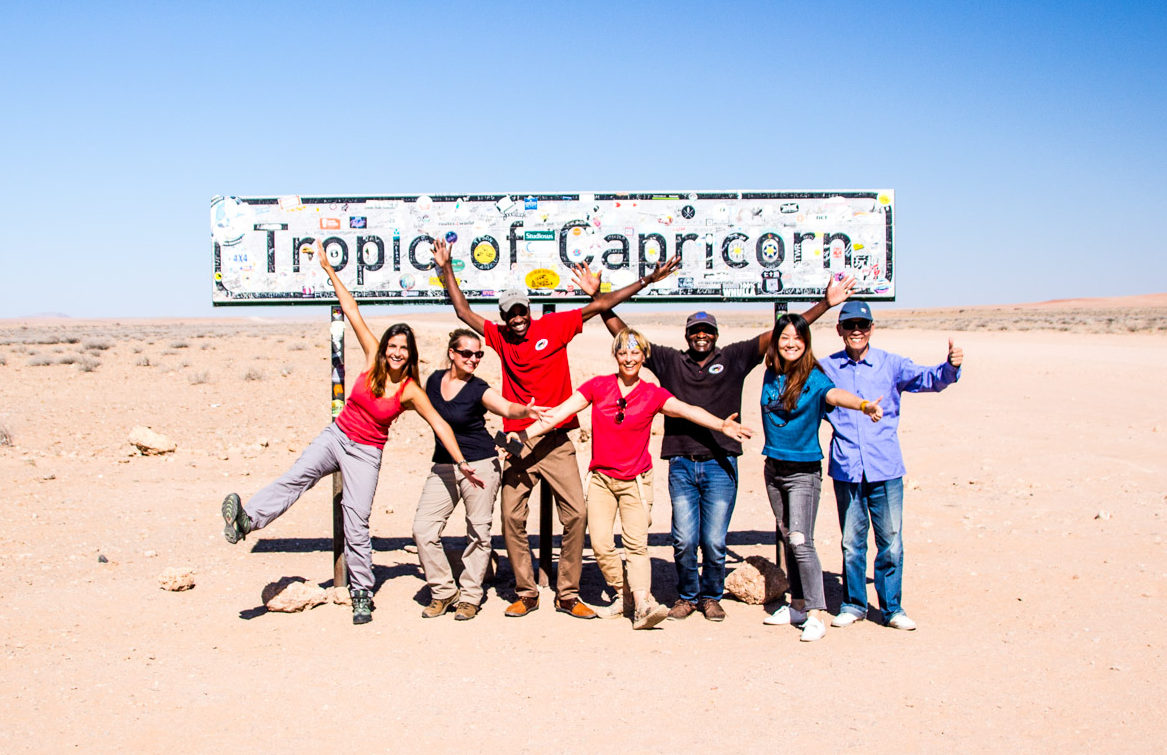 Tropic of Capricorn Sign in Namibia