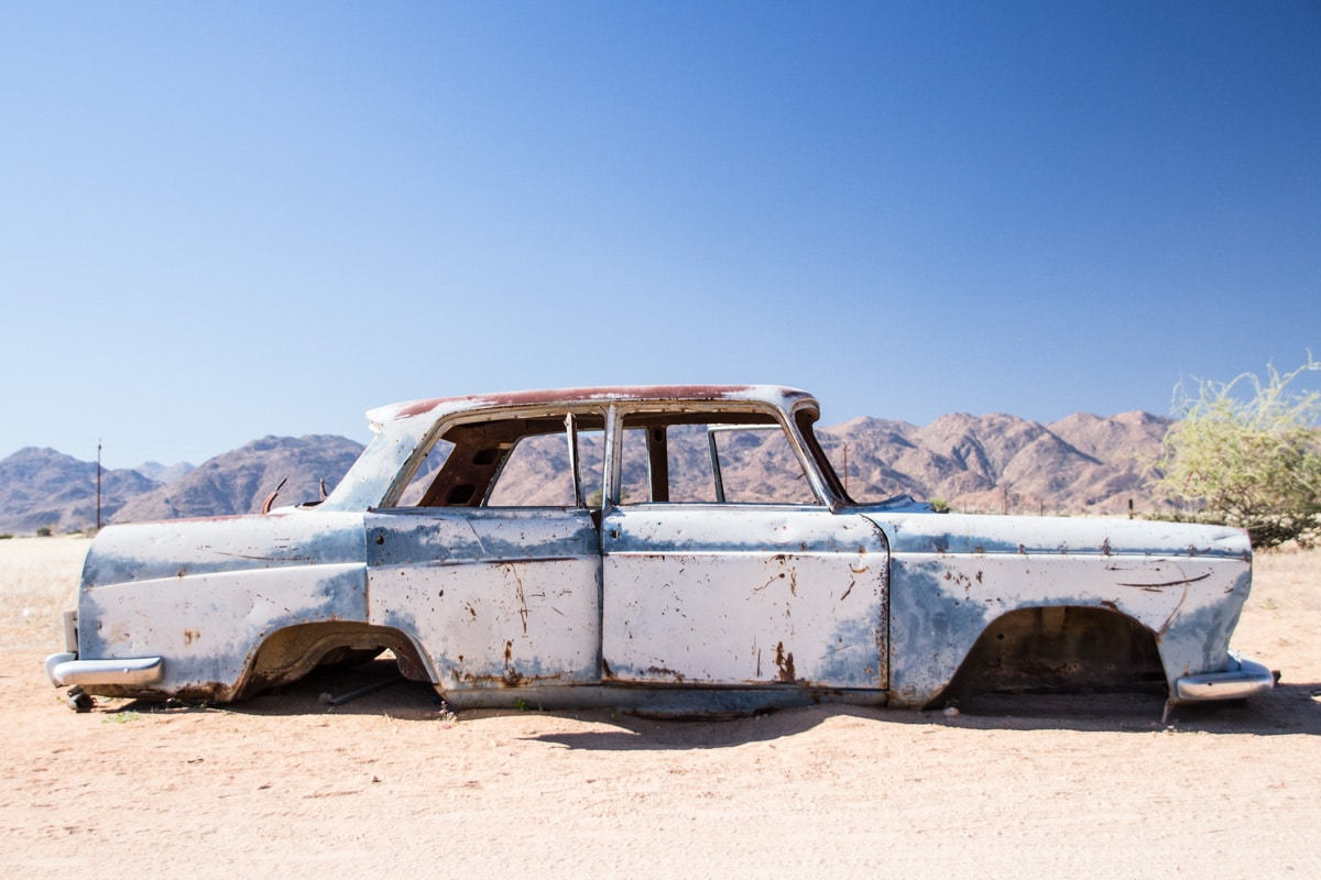 Abandoned car in Solitaire - Namibia