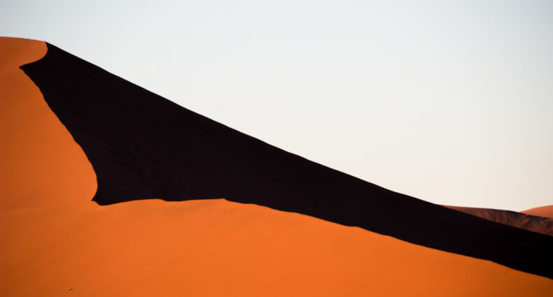 Sunrise in Dune 45 in Namibia