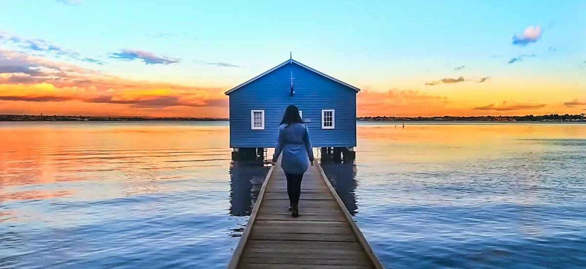 Blue Boat House in Perth, Australia