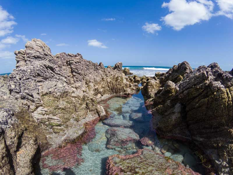 Natural pools in Jericoacoara, Brazil