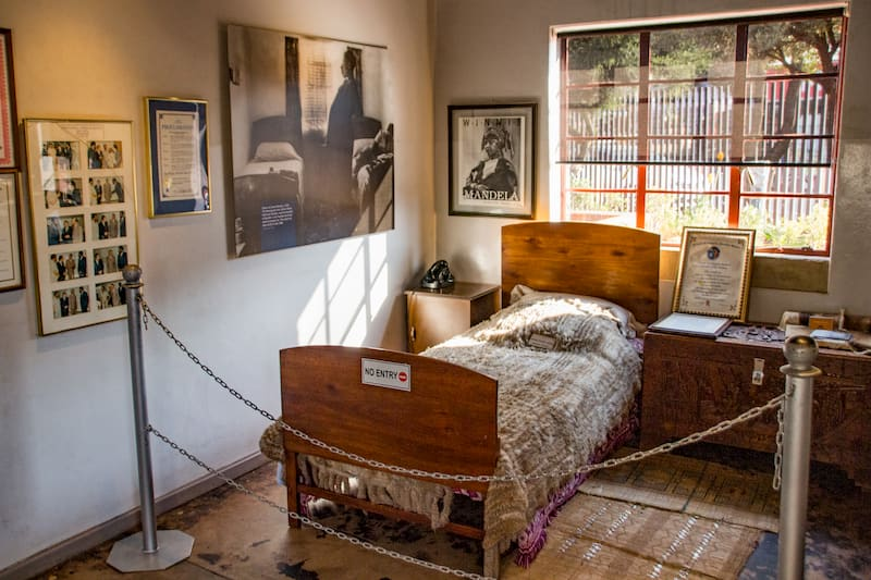 Casa de Nelson Mandela em Soweto, Joanesburgo.