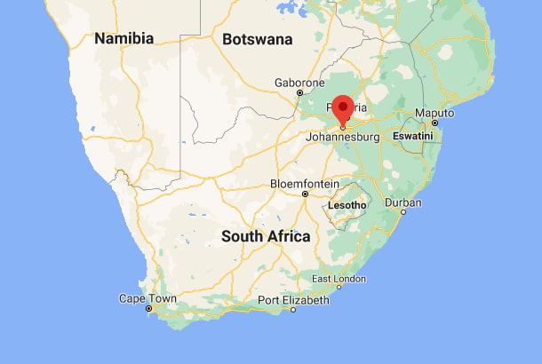 Onde fica Joanesburgo