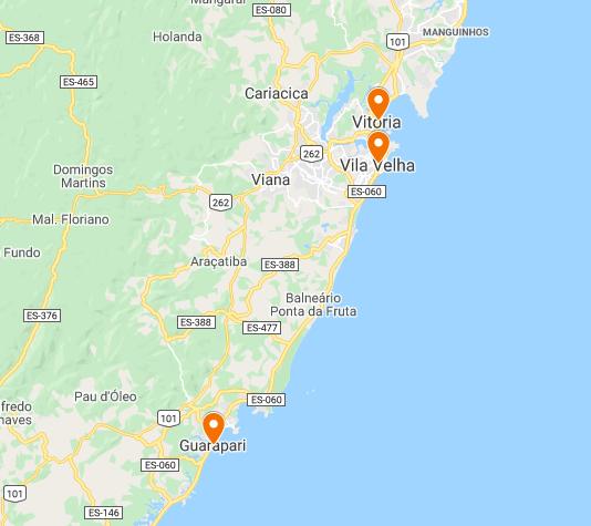 Mapa Espírito Santo