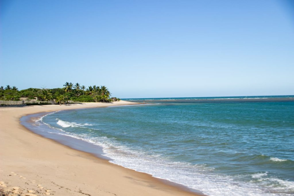 Itapororoca beach - one of the best beaches in Trancoso, Brazil