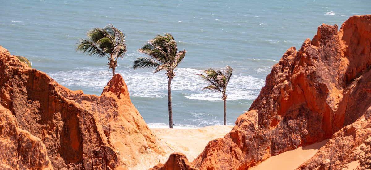 Falésias no Morro Branco, Ceará