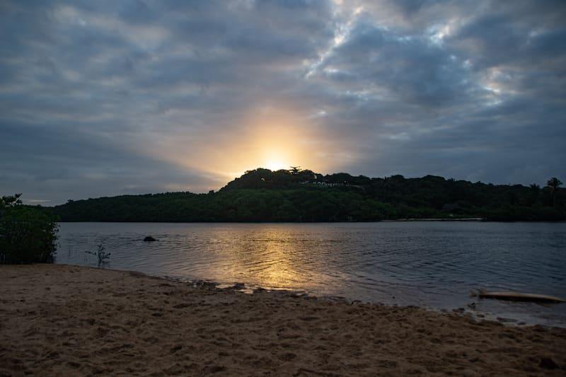 sunset in Rio Caraíva