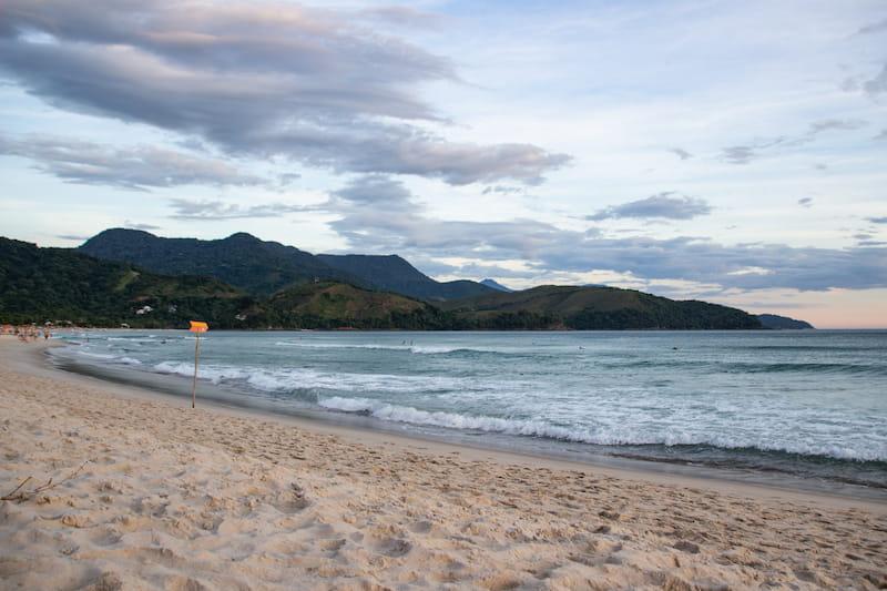 Maresias beach in the north coast of Sao Paulo state