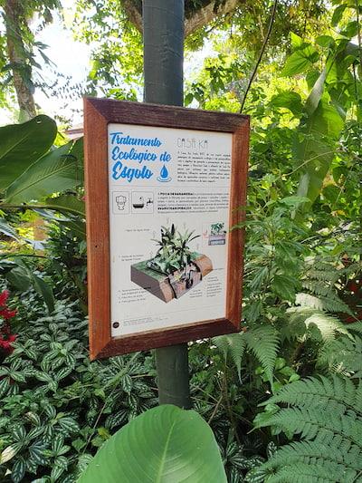 Tratamento ecológico de esgoto na Casa Ká - Hospedagem em Maresias SP