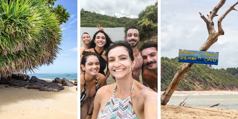 Praia do Satu - one of the best things to do in Caraiva, Brazil