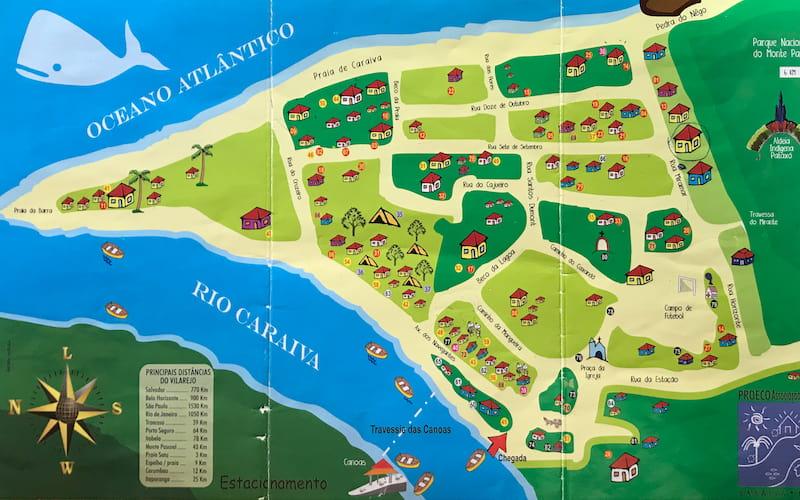 Caraíva, Brazil Map
