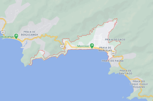 Maresias on the map - Maresias Beach, Brazil