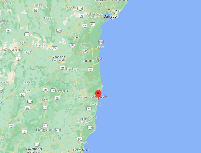 Onde fica Porto Seguro Bahia