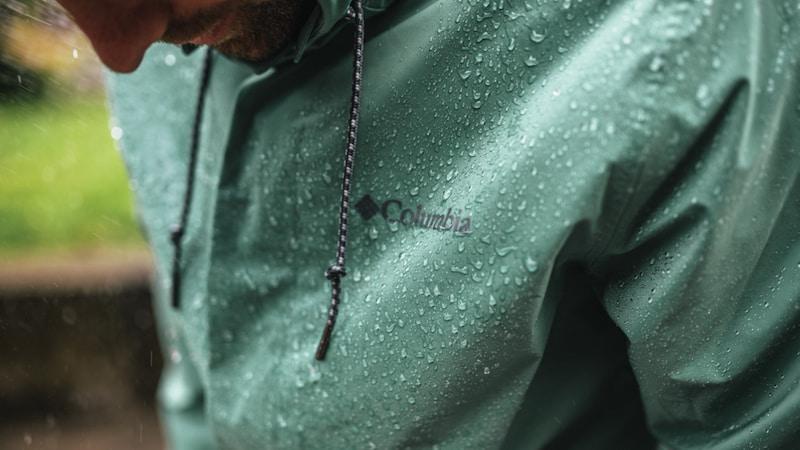 Jaqueta impermeável masculina da Columbia Sportswear