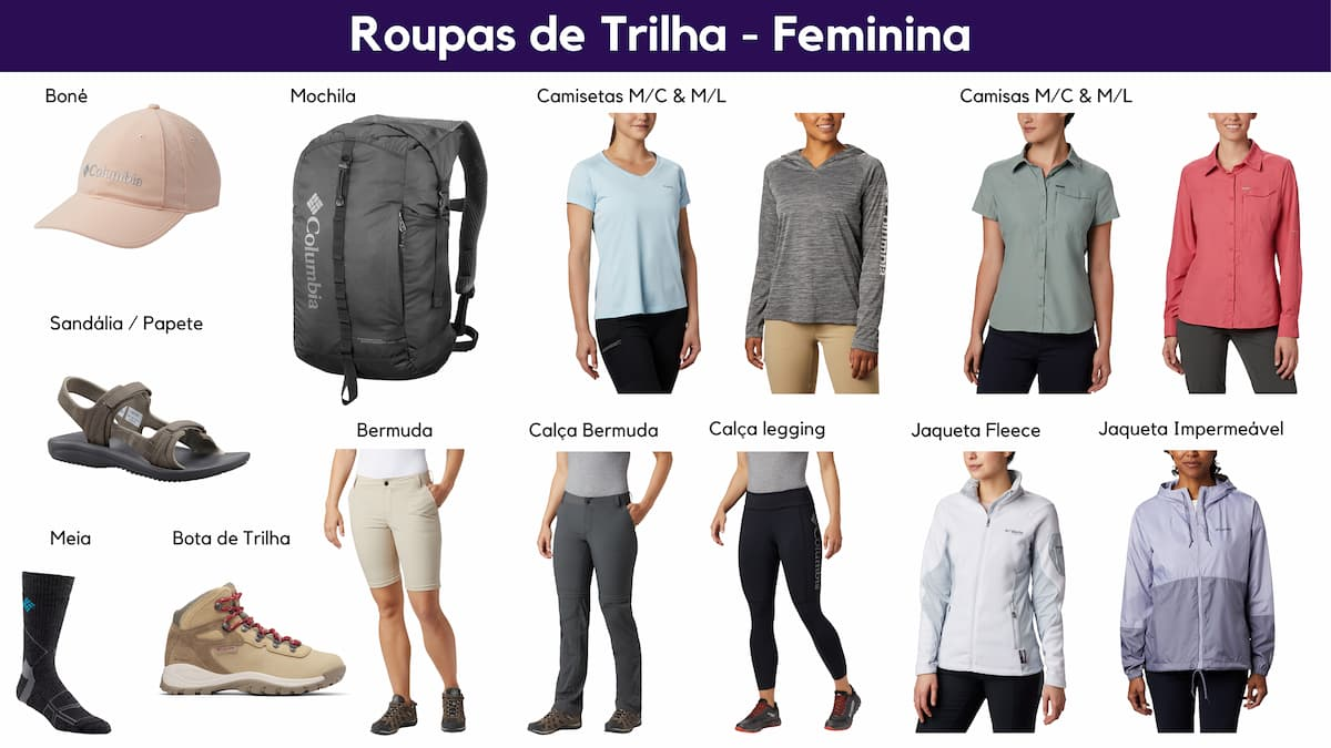 Roupa de Trilha Feminina