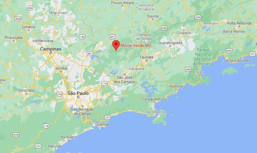 onde fica Monte Verde no mapa