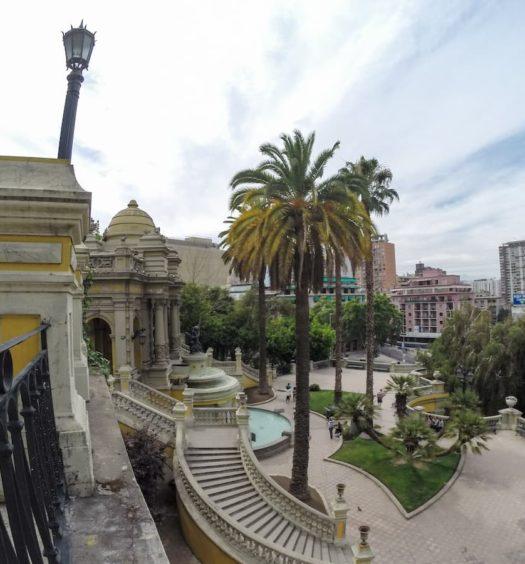 Entrada do Cerro Santa Lucia na cidade de Santiago no Chile