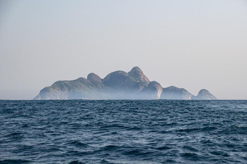 As formas do arquipélago de alcatrazes